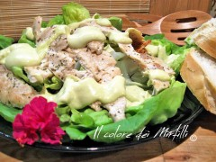 caesar salad, pollo, insalata, salsa avocado, salse carne, avocado, salse, panini, tramezzini