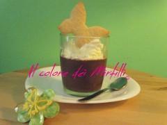 crema al cioccolato con panna, budino, coppa malù, crema fredda, crema senza uova