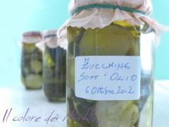 zucchine sott'olio, zucchine, conserva di zucchine