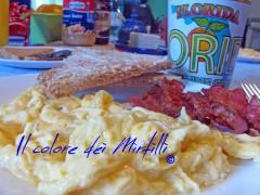 SCRAMBLED EGGS, colazione americana, breakfast usa, colazione, brunch