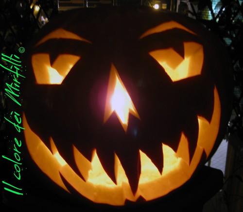zucca halloween - la zucca n°2, zucca halloween, zucca intagliata, zucca halloween 2012