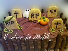 torta halloween, torta cioccolato, crema latte, ganache cioccolato, PDZ, MMF
