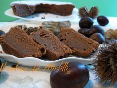 ciambella di crema di marroni e cioccolato, ciambella, dolci da credenza, crema di marroni, dolce di casta